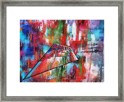 Abstract Colors Right Panel 05 Framed Print by Thomas Woolworth