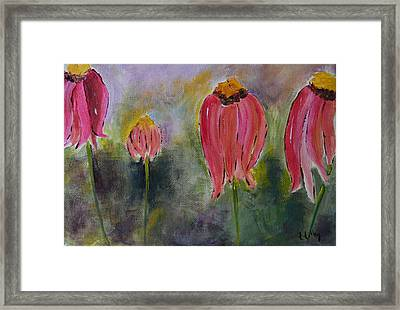 Abstract Coneflower Framed Print by Teresa Tilley