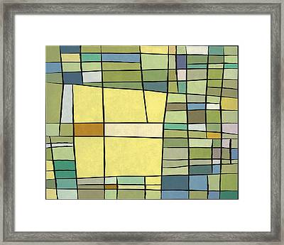 Abstract Cubist Framed Print by Gary Grayson
