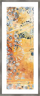 Abstract Decorative Art Original Circles Trendy Painting By Madart Studios Framed Print by Megan Duncanson