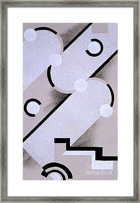 Abstract Design From Nouvelles Compositions Decoratives Framed Print by Serge Gladky