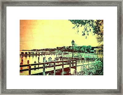 Abstract Docks And Water Framed Print by Susan Stone
