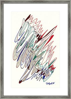 Abstract Drawing Fifty-one Framed Print by Lynne Taetzsch