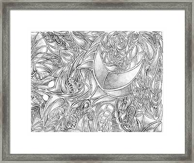 Abstract Drawing In Pencil What Do You See Series Framed Print by Minding My  Visions by Adri and Ray