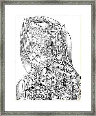 Abstract Drawing Owl Hands Roses Framed Print by Minding My  Visions by Adri and Ray