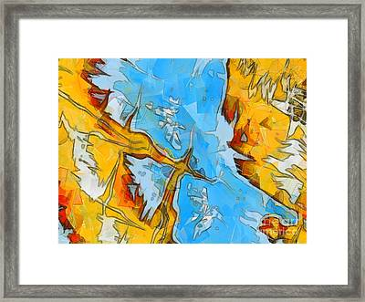 Abstract Elements  Framed Print by Pixel Chimp