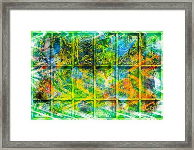 Abstract  - Emotion - Trapped Framed Print by Barbara Griffin