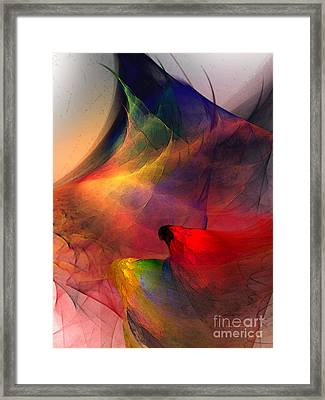 Abstract Exotic Birds Framed Print by Karin Kuhlmann