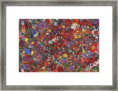 Abstract - Fabric Paint - Sanity Framed Print by Mike Savad