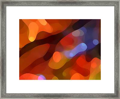Abstract Fall Light Framed Print by Amy Vangsgard