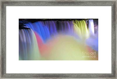 Abstract Falls Framed Print by Kathleen Struckle
