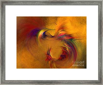 Abstract Fine Art Print High Spirits Framed Print by Karin Kuhlmann