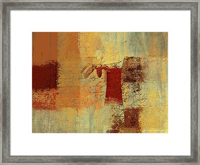 Abstract Floral - 14v4i-t2b2 Framed Print by Variance Collections