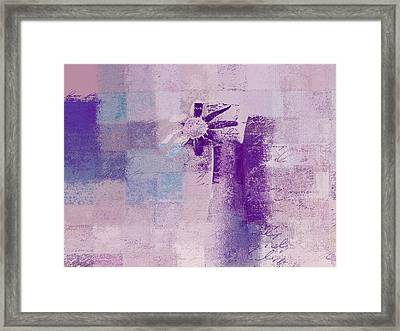 Abstract Floral - A8v4at1a Framed Print by Variance Collections