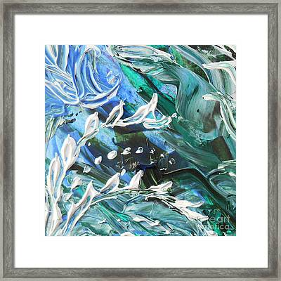 Abstract Floral Branching Out Framed Print by Irina Sztukowski