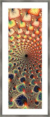 Abstract Floral Fractal Art Tall And Narrow Framed Print by Matthias Hauser