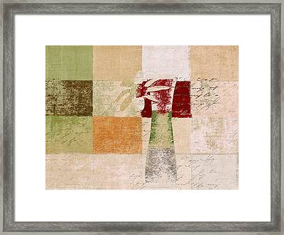 Abstract Floral - H11v3t9b Framed Print by Variance Collections