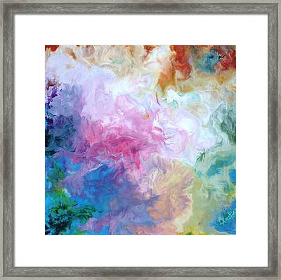 Abstract Forms Encaustic Framed Print by Lisa Kramer