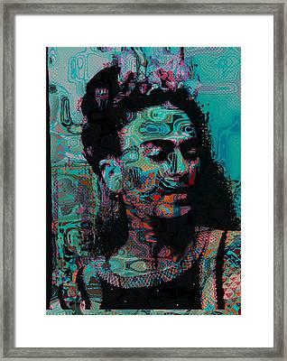 Abstract Frida Framed Print by Bogdan Floridana Oana