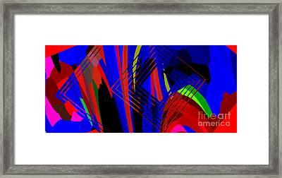 Abstract Geometric Art Framed Print by Mario Perez