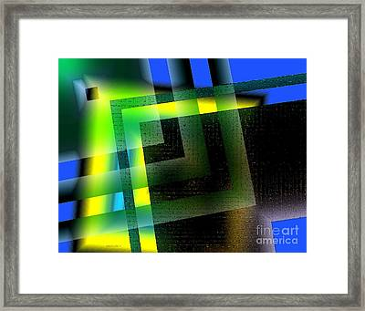 Abstract Geometry With Effects And Transparency Framed Print by Mario Perez