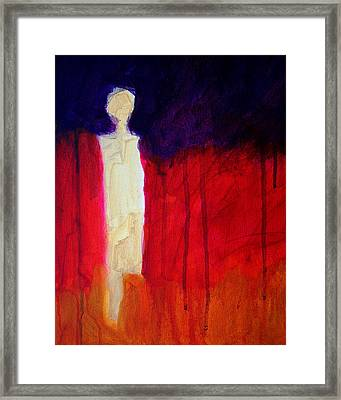 Abstract Ghost Figure No. 1 Framed Print by Nancy Merkle