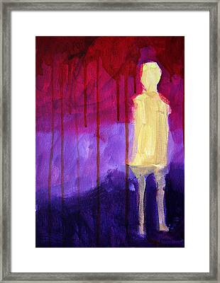 Abstract Ghost Figure No. 3 Framed Print by Nancy Merkle