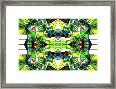 Abstract Glass Framed Print by Ronald T Williams