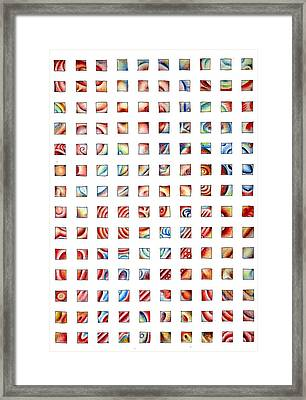 Abstract Grid Framed Print by Richard Mountford