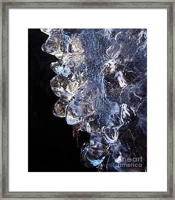 Abstract Ice Framed Print by Lori Kallay