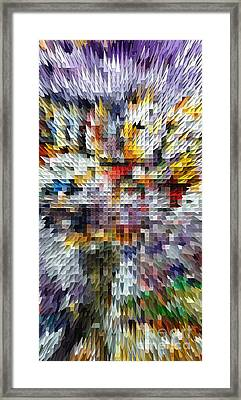 Abstract Illusion Elements Vertigo #2 Framed Print by Ginette Callaway