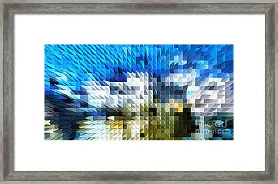 Abstract Illusion Elements Water #4 Framed Print by Ginette Callaway