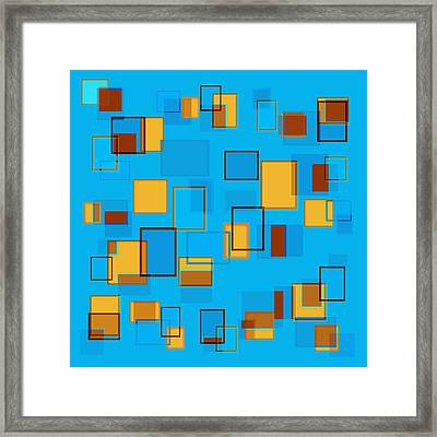 Abstract In Beach Color Scheme Framed Print by Frank Tschakert
