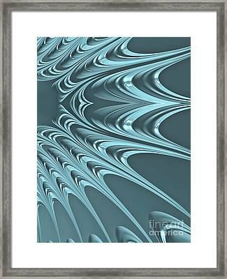 Abstract In Blue Framed Print by John Edwards