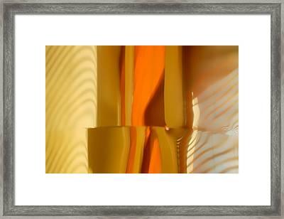 Abstract In Brass - 4 - Historic Library Building - Omaha Nebr Framed Print by Nikolyn McDonald