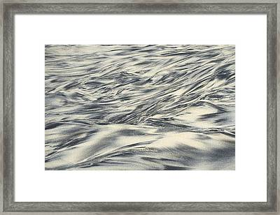 Abstract In Sand Framed Print by Hugh Smith