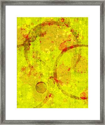 Abstract Ink And Water Stains Framed Print by Lisa Noneman