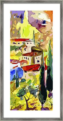 Abstract Italy Lago Di Como Framed Print by Ginette Callaway