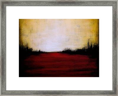 Abstract Landscape ... The Space Between Us Framed Print by Amy Giacomelli