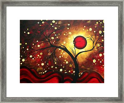 Abstract Landscape Glowing Orb By Madart Framed Print by Megan Duncanson