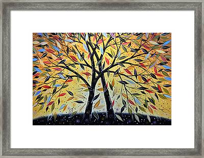 Abstract Landscape Modern Tree Art Painting ... New Day Dawning Framed Print by Amy Giacomelli