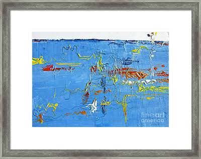 Abstract Landscape No 4 Framed Print by Patricia Awapara