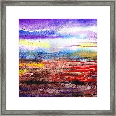 Abstract Landscape Purple Sunrise Early Morning Framed Print by Irina Sztukowski