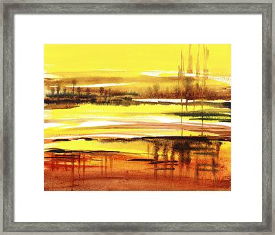 Abstract Landscape Reflections I Framed Print by Irina Sztukowski