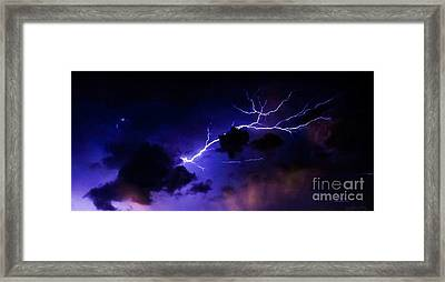 Abstract Lightning 10 Framed Print by Jesse  Post