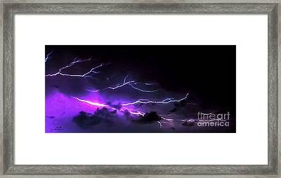 Abstract Lightning 11 Framed Print by Jesse  Post