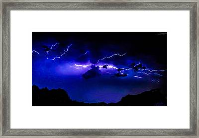 Abstract Lightning 5 Framed Print by Jesse  Post