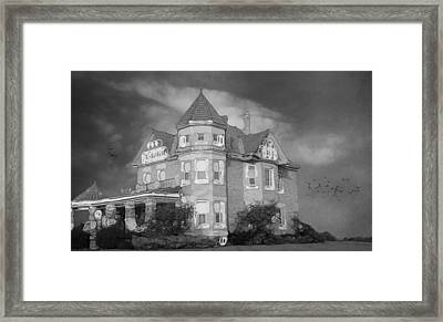 Abstract Luxurious Home Black And White Framed Print by Dan Sproul