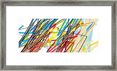 Abstract - Made By Matilde 4 Years Old Framed Print by Giuseppe Epifani