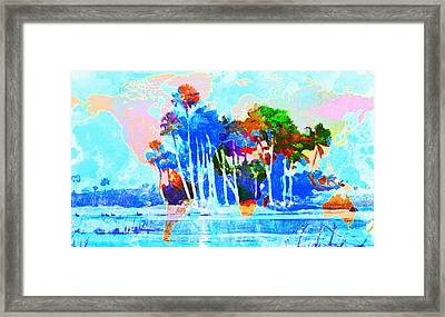 Abstract Map Framed Print by Gary Grayson